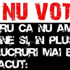 Eu nu votez ca un bou, doar ca să votez